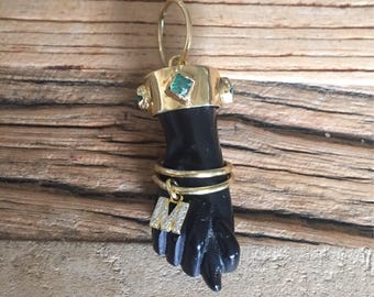 Figa Hand, Lucky Charm, Fine Jewelry, Good Luck, Figa Hand Pendant, Figa Hand Charm,
