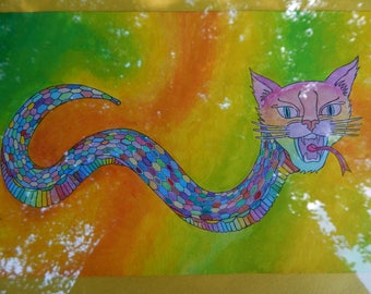 Rainbow Feline Serpent