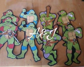 Teenage Mutant Ninja Turtles INSPIRED hand cut cutouts