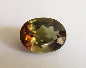 2.36 ct Oval Andalusite Gemstone, Green Andalusite, Loose Gemstone, Natural Andalusite, Loose Oval Andalusite, Loose Faceted Andalusite Gem