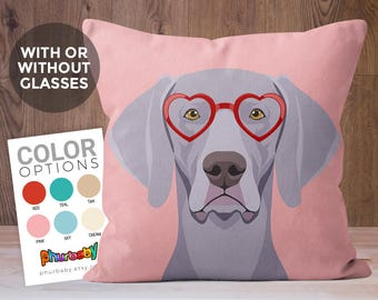Weimaraner Pillow | Dog Lover Gift | Fiancé Gift | Stuffed Dog Pillow | Gifts Under 25 | Gift For Her | Cute Dog Pillow | Dog Gift | Dog Art