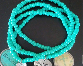 Blessed Be Still Charm bracelet