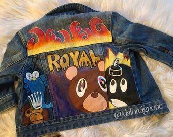 Hand painted custom jean jacket