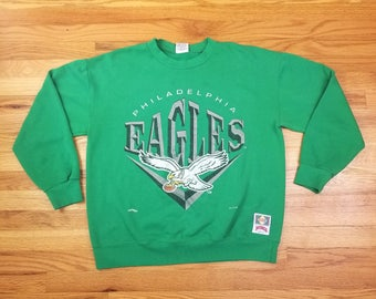 Vintage 90s 1994 Nutmug Mills Philadelphia Eagles Sweatshirt Shirt Size Large L