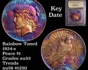 1934-S Peace Silver Dollar - Toned!