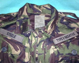 Type O Negative Vinnland Army Camouflage Woodland Jacket Pete Steele October Rust Bloody Kisses Vinland
