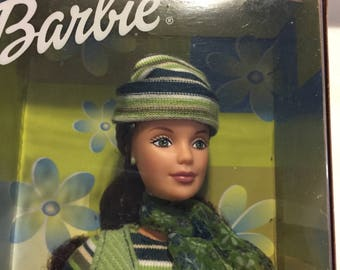 Barbie Mattel corduroy cool green brunette beautiful