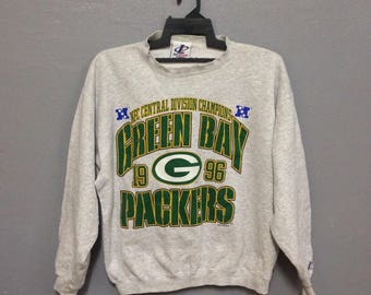 Rare!! Vintage NFC Central Division Champions Green Bay Packers 1996 Sweatshirt Made in USA Size M