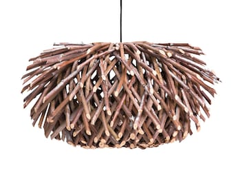 Davina Home Handmade Ceiling Light, Handmade Chandelier, Wood Chandelier, Handmade Pendant, Wood Pendant, Handmade Patio Ceiling Light