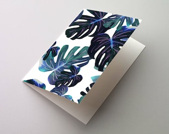 Monstera Print A6/C6 Greeting Card