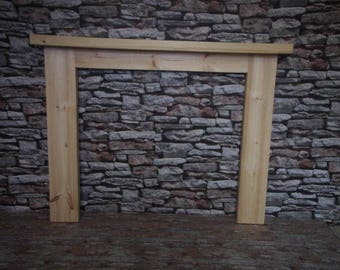 Thick Solid Pine Fire Surround
