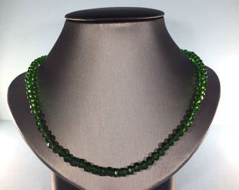 SALE 30% , Chrome Diopside Necklace,  Natural Chrome Diopside Necklace, Genuine Chrome Diopside  Necklace, Birthstone Necklace