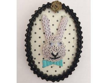 White Rabbit brooch Locket