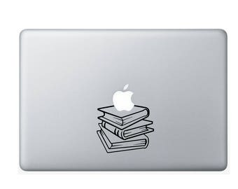 Stack of Books | 13 inch Laptop Decal | Macbook Air Decal | Macbook Pro Decal | Vinyl Decal | DIY Vinyl Decal
