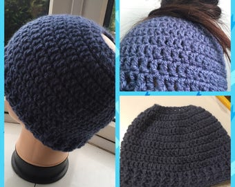 Crocheted Messy Bun Hats