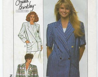 Simplicity 9103 - MISSES Unlined Jacket / Sizes 6, 8, 10