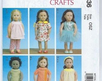 """McCalls 7336 - 18"""" Doll Clothes"""