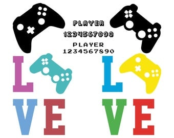 Game Controllers svg joystick svg gamepad svg gaming clipart svg video game svg files for cricut svg files for silhouette vector cut file