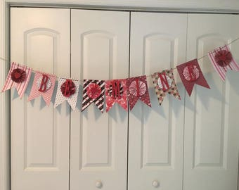 Reversible Valentines/Holiday paper banner