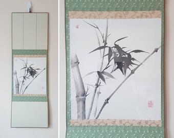 Bamboo-----Original Japanese/Chinese/Asian Painting (optional scroll)