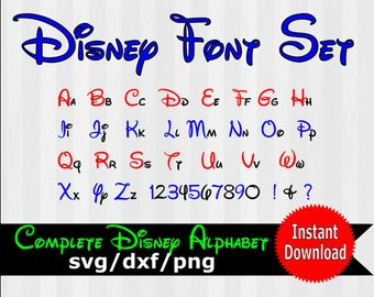 Disney font svg, Disney text, Disney font design, Walt Disney, disney svg files, files for silhouette, files for cricut, files for SCAL, dxf