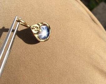 6 carat blue star sapphire pendant