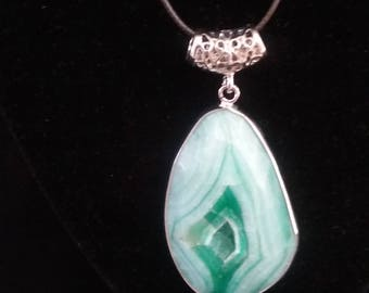 Green-White Stone Necklace