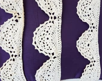 Bulgarian lace,  lace, Hand-Knitted Lace, Long lace,  from the 1950s