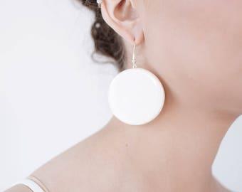 Tahitian Vanilla Porcelain Earring