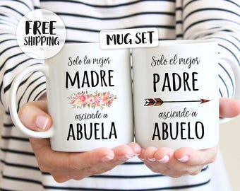 Madre Padre Pregnancy reveal, Abuela gift, Abuelo gift, Abuelita gift, Abuelito gift, Spanish pregnancy announcement, new grandparents gift