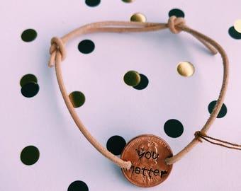 Customized Leather Cord Bracelet