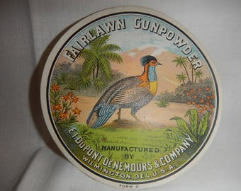 Fairlawn Gunpowder Label