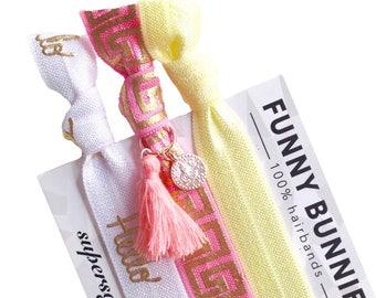 LEVANTADO TASSEL - 3 bracelets / hair ties - funnybunnies supersoft