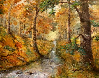 Autumn Glow... a limited edition print from an original Gillian Ousby watercolour.