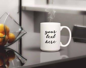 Your text here coffee mug, Personalized coffee cup, Customized coffee cup, Coffee, Mug, Personalized,mugs, coffee cup