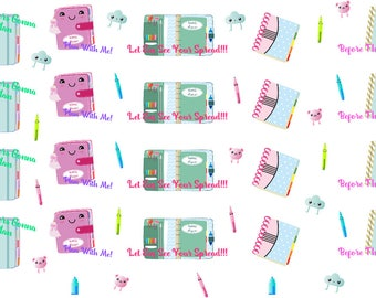 Cute Kawaii Planner Icon Stickers