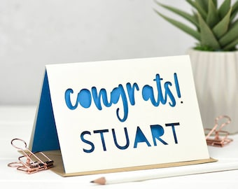 Congratulations Card - Congratulations - Congratulations Gift - Driving Test - Exam Results Card - Well Done Card - Exam Card