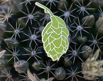 Beer Hops Hard Enamel Lapel Pin