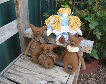 Goldilocks and the Three Bears, Baby Nursery Decor, Gift for Baby