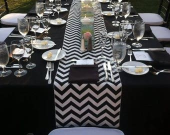 lovemyfabric Crazy About Chevron Design Cotton Table Runner For Wedding/Bridal Shower, Birthdays/Baby Shower, Dinner & Special Events