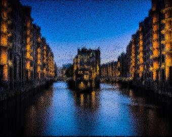 Hamburg Photography Textured Background Instant Download