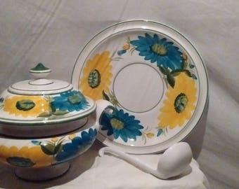 Floral Soup Serving Dish