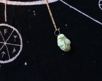Chryoprase necklace