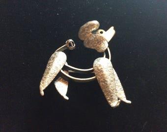 Sterling silver poodle brooch