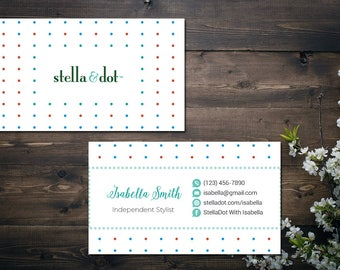 PERSONALIZED Stella and Dot Business Card, Custom Stella and Dot Business Card, Custom Stella and Dot, Printable Business Card SD05
