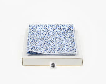 de MORÉ - blue Flowerfield Pocket square