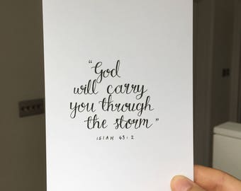 Isaiah 43:2   postcard