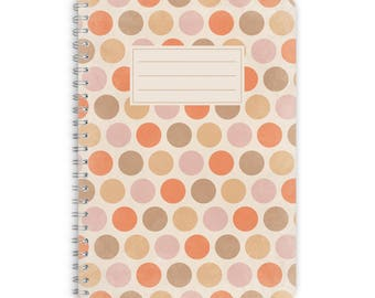 Note Pad A5 - SANDY DOTS