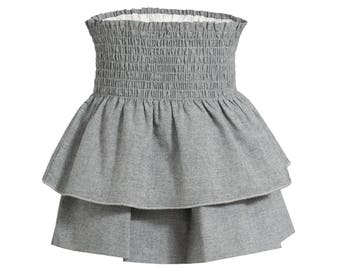 Skirt with flounces