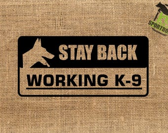 Belgian Malinois Stay Back Decal